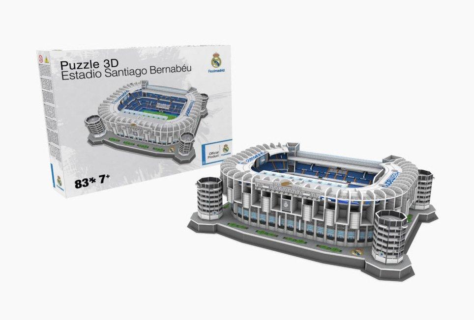 Puzzle 3d Del Estadio Santiago Bernabeu Rompecabezas En 3d